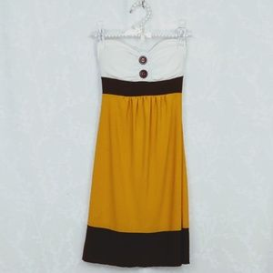 Charlotte Russe | Color Block Strapless Dress | S